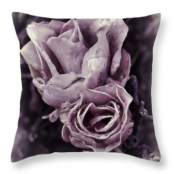 Purple Elegance Throw Pillow