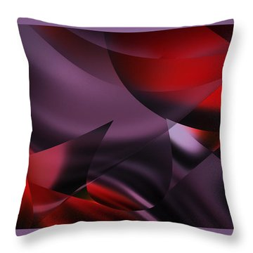 Purple Energy  Throw Pillow