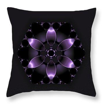 Purple Fantasy Flower Throw Pillow by Judi Suni Hall