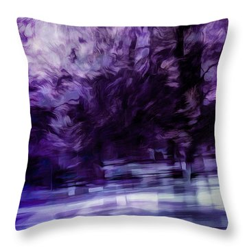 Purple Fire Throw Pillow
