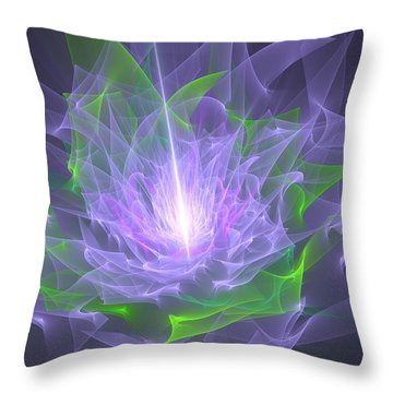Purple Flame Throw Pillow