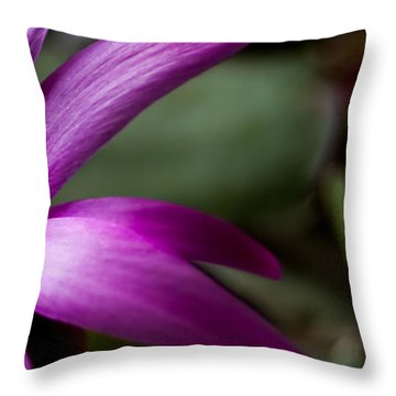 Purple Flower Throw Pillow by Steven Milner