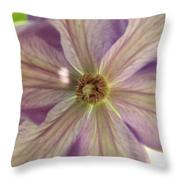 Purple Flower Throw Pillow by Thomas Leon