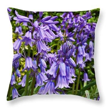 Throw Pillow featuring the photograph Purple Flowers by Gena Weiser