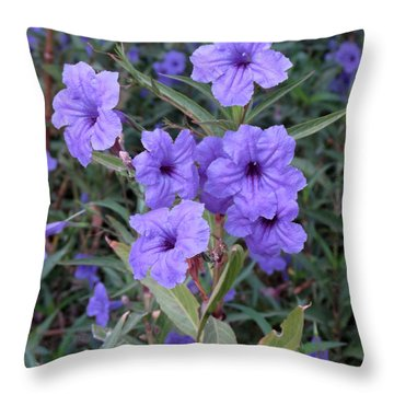 Throw Pillow featuring the photograph Purple Flowers by Laurel Powell