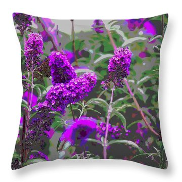 Throw Pillow featuring the photograph Purple Flowers by Suzanne Powers