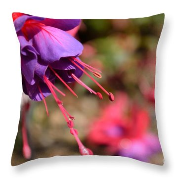 Purple Fuchsia Throw Pillow by Scott Lyons