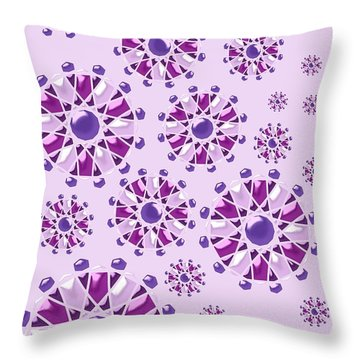Purple Gems Throw Pillow by Anastasiya Malakhova