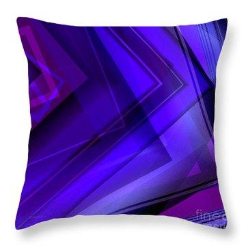Purple Geometric Transparency Throw Pillow by Mario Perez