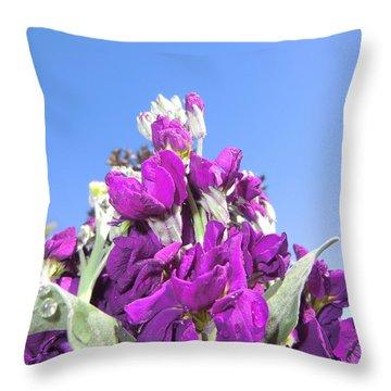 Purple Glow 2 Throw Pillow