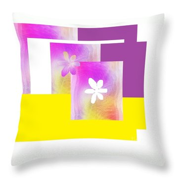 Purple Glow Flower Throw Pillow