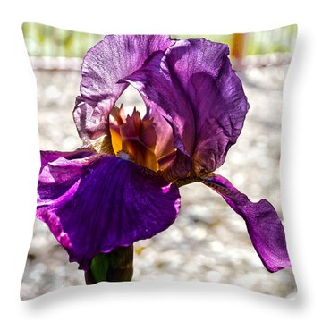 Purple Godess Throw Pillow by Camille Lopez