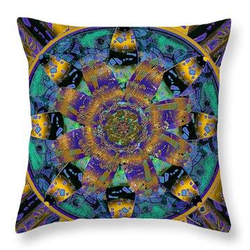 Purple Gold Dream Catcher Mandala Throw Pillow