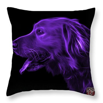 Purple Golden Retriever - 4047 F Throw Pillow