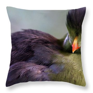 Purple Hair Throw Pillow