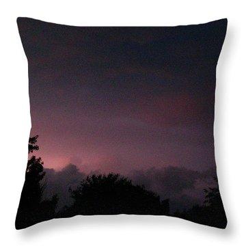 Purple Haze After Storm Throw Pillow by Gail Matthews