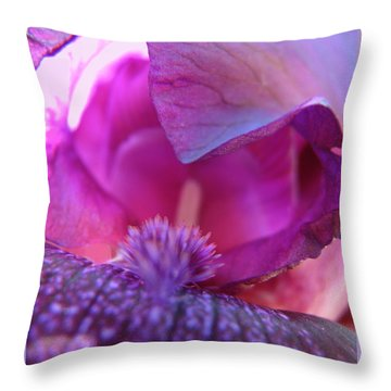 Throw Pillow featuring the photograph Purple Haze by Brooks Garten Hauschild