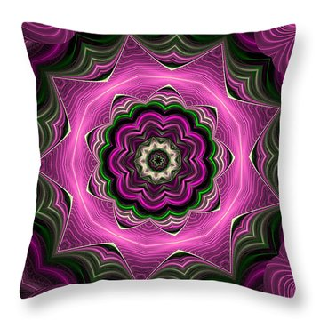 Purple Haze Kaleidoscope Throw Pillow