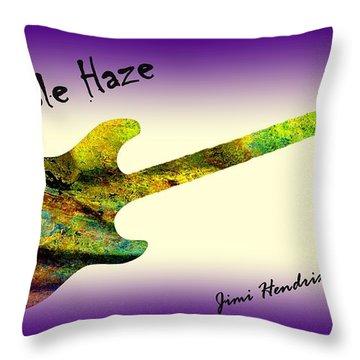 Purple Haze Scuse Me While I Kiss The Sky Hendrix Throw Pillow