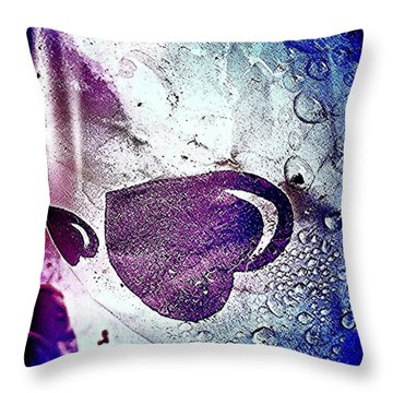 Purple Hearts 2c Throw Pillow
