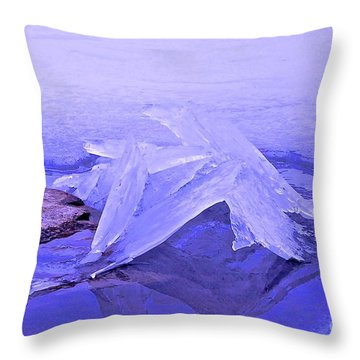 Purple Ice Throw Pillow by Randi Shenkman