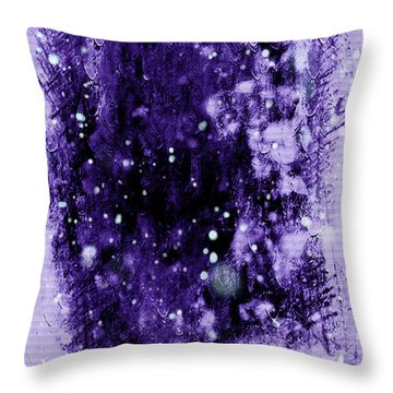 Purple Impression Throw Pillow