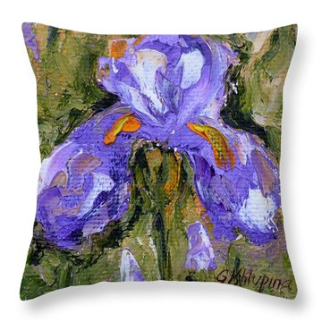 Purple Iris2 Throw Pillow