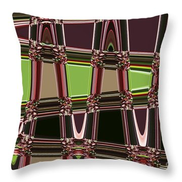 Purple Leaves Abstract Throw Pillow by Carol Groenen