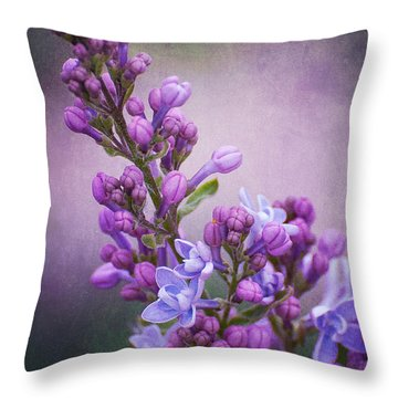 Purple Lilacs Throw Pillow