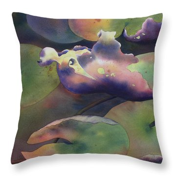 Purple Linings II Throw Pillow