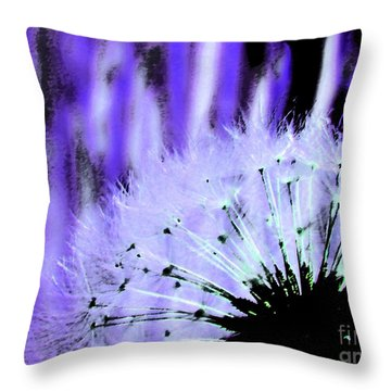 Throw Pillow featuring the photograph Purple Lion by Everette McMahan jr
