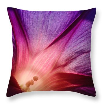 Purple... Throw Pillow by Ludek Sagi Lukac