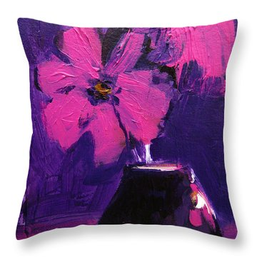 Purple Madness Throw Pillow