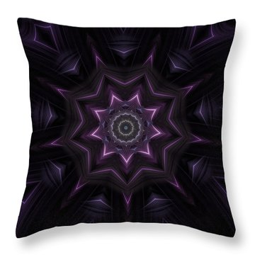 Purple Majestry Kaleidoscope Throw Pillow