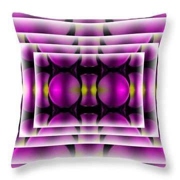 Throw Pillow featuring the digital art Purple Maze by Gayle Price Thomas