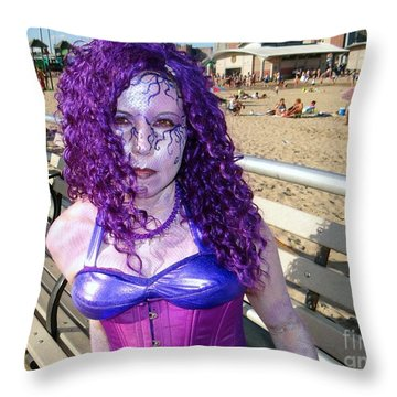 Throw Pillow featuring the photograph Purple Mermaid by Ed Weidman