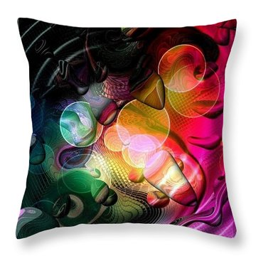 Throw Pillow featuring the digital art Purple Mirror By Nico Bielow by Nico Bielow