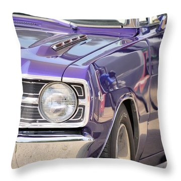 Purple Mopar Throw Pillow by Bonfire Photography
