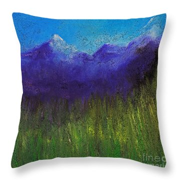 Purple Mountains By Jrr Throw Pillow by First Star Art