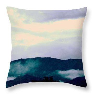 Purple Mountains Majesty Blue Ridge Mountains Throw Pillow