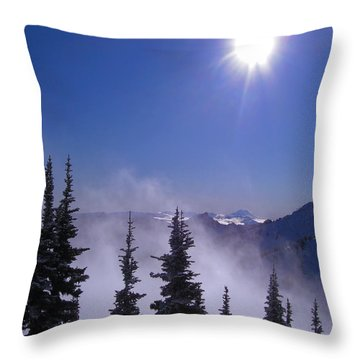 Purple Mountains Majesty Throw Pillow by Kym Backland