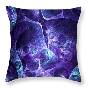 Purple Night Throw Pillow by Anastasiya Malakhova