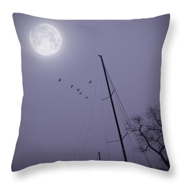 Purple Night Throw Pillow by Brian Wallace