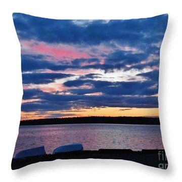 Purple Night Throw Pillow
