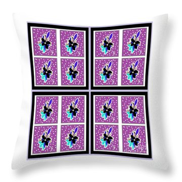 Purple Nights Throw Pillow