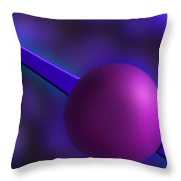 Purple Orb Throw Pillow