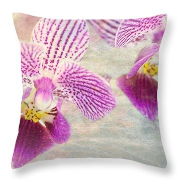 Purple Orchid 2 Throw Pillow