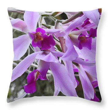 Purple Orchid Personality Throw Pillow