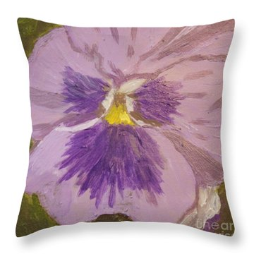 Purple Pansy 1 Throw Pillow by Vicki Maheu