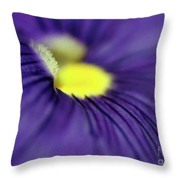 Purple Pansy Throw Pillow by Sabrina L Ryan